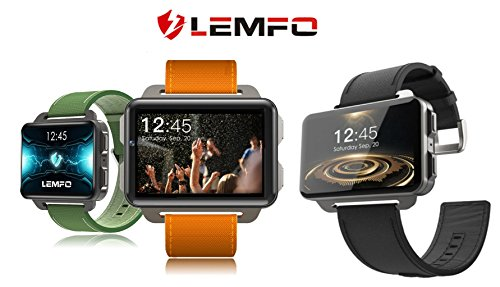 ⌚ LEMFO LEM4 PRO Smart Watch: Support Android \ iOS, SIM Card, Blutooth Handsfree Calls, Camera, Heart Rate, GPS, Vibration, Apps Download. (Gray-Black.)