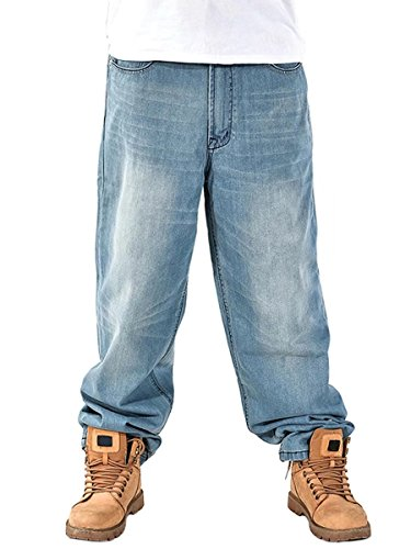 DanTile Mens Loose Fit Denim Jeans Baggy Jeans
