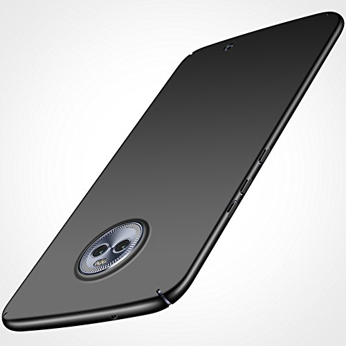 Anccer Moto X4 Case [Colorful Series] [Ultra-Thin] [Anti-Drop] Premium Material Slim Full Protection Cover for Motorala X4 2017 (Smooth Black)