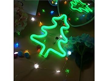 Panpa Inteligente Led árbol De Navidad Letreros De Neón árbol De