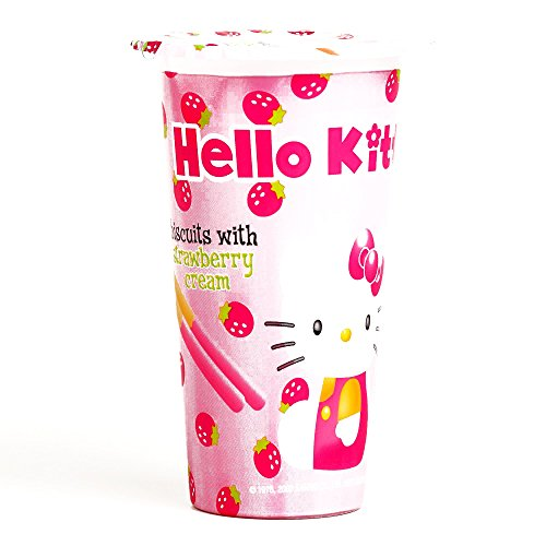 Hello Kitty Strawberry Dip Biscuits 1.76 oz each (1 Item Per Order)]()