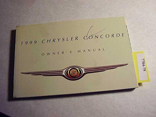 1999 Chrysler Concorde Owner's Manual