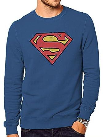 Distressed Shirt Cid Logo Superman Homme Sweat Oxn5nZIzq