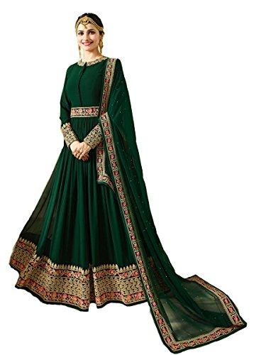 Usura Indian Etnica Anarkali Salwar Verde Delisa Kasheesh Rajmahal amp; Usura Vestito Z5dwq
