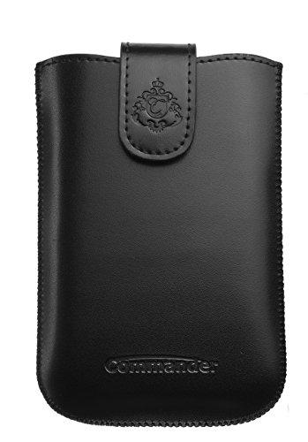 Commander Elegance DeLuxe XL Leder Case für Smartphone schwarz