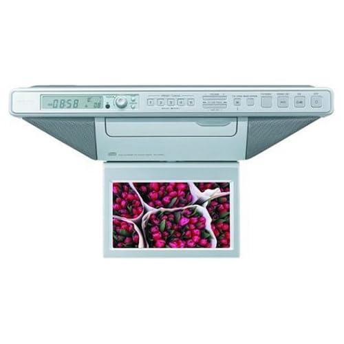 Image of Sony ICF-CD555TV 7-Inch Under-Counter LCD TV/CD Clock Radio Alarm Clocks