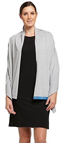 Solbari UPF 50+ Women's Sun Protection Sun Shawl Sensitive Collection - One Size (25 inches x 63 inches) / Light Grey - UV Protection, Sun - Light 25 Inch Collection 1