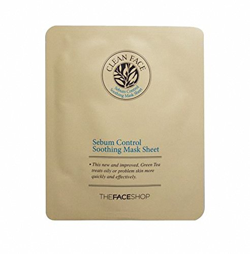 The-Face-Shop-Clean-Face-Sebum-Control-Soothing-Mask-Sheet-21ml-x-2-Pcs