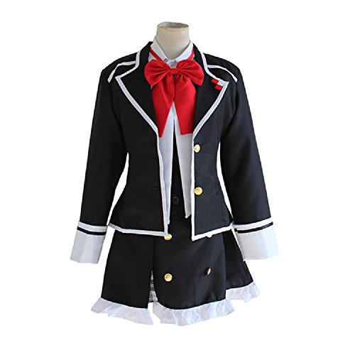 Mtxc Women's Diabolik Lovers Cosplay Costume Yui Komori Female School Uniform Size Large Black