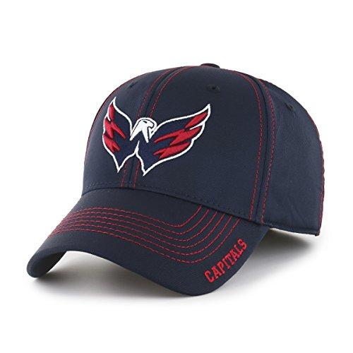 NHL Washington Capitals Start Line OTS Center Stretch Fit Hat, Navy, - Vintage Hockey Cap
