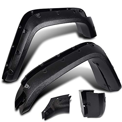 (gplus 4 PCS Pocket Rivet Style Fender Flares Fits for 2007-2014 Toyota FJ Cruiser Front Rear Right Left Textured Black Wheel Cover Protector Off Road Style 08 09 10 11 12 13)