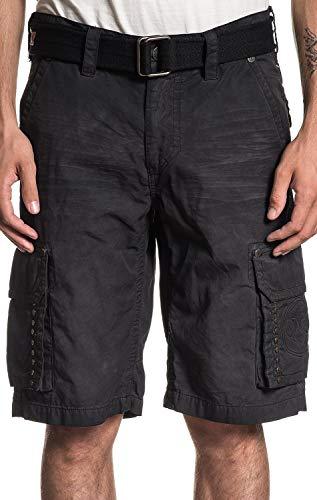(Affliction Optimal Fashion Embroidered Cargo Shorts for Men (Belt Included))