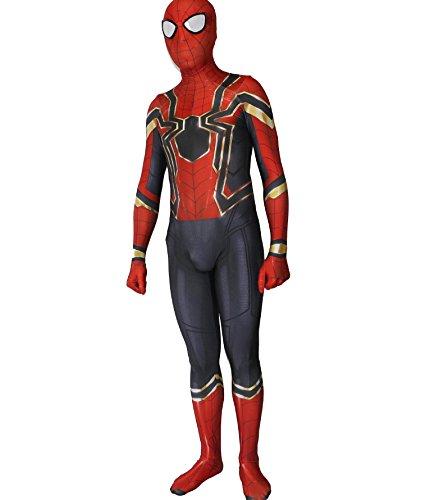 - Alwoe Lycra Spandex Unisex 3D Style Halloween Cosplay Costumes Adult/Kids Red