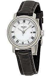 Tissot Bridgeport Automatic Silver Dial Black Leather Ladies Watch T0970071603300