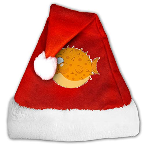 Cartoon Blowfish Funny Christmas Hat Childrens and Adults Party Hat