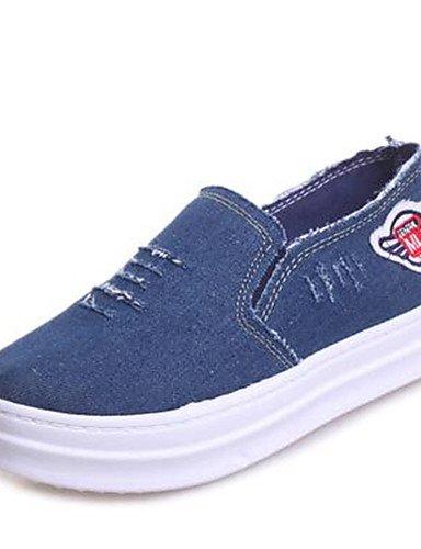 ZQ Zapatos de mujer-Plataforma-Creepers-Mocasines-Exterior / Casual-Vaquero