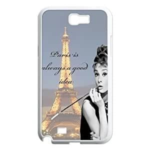 Audrey Hepburn Quotes Original New Print DIY Phone For Case Samsung Note 4 Cover ,personalized ygtg-781392