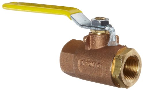 Apollo 70LF-100 Series Bronze Ball Valve, Potable Water Service, Two Piece, Inline, Lever, 4'' NPT Female by Apollo Valve