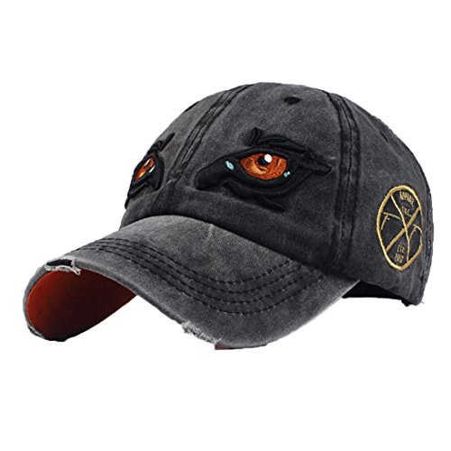 ats,Classic Embroidered Flower Denim Dad Hat Baseball Caps Hats (Black) ()