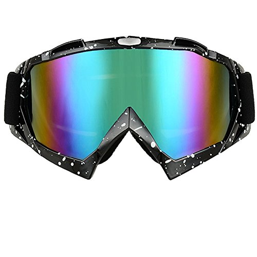 JOLIN Industry Welding Riding Protective Glasses Windproof Goggles Workplace Safety Dustproof Eyewear (Dots frame,tinted lens)