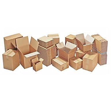 TAP 28145 Caisses carton simple cannelure, 20 cm Longueur, 14 cm Largeur, 14 cm Hauteur (Pack de 25)