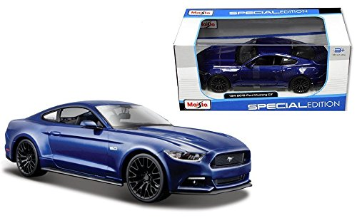 maisto-2015-ford-mustang-gt-50-1-24-scale-diecast-model-car-blue