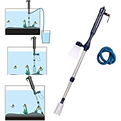 Electric Fish Tank Vacuum Cleaner Syphon Operated Gravel Water Filter Cleaner Sand Washer