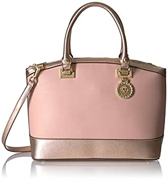Anne Klein New Recruits Large Dome Satchel, Dusty Blush/Rose Gold