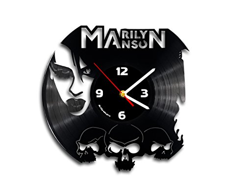 Marilyn Manson vinyl record wall clock