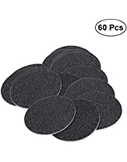 Frcolor 60Pcs Replacement Sandpaper Disk Discs for Electronic Foot File Callus Remover Tool(Specification 80)