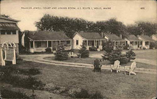 Frances Jewell Court and Dining Room, U. S. Route 1 Wells, Maine Original Vintage Postcard