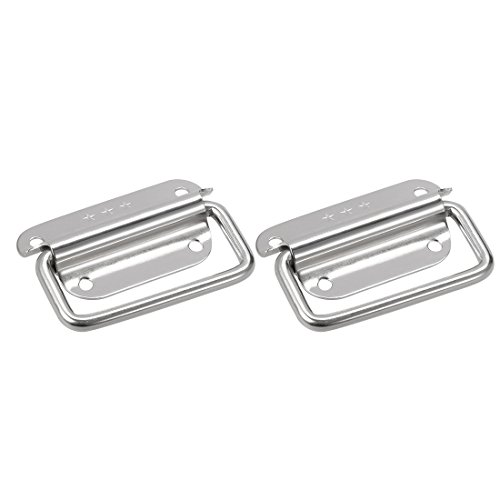 uxcell 75mmx42mm 201 Stainless Steel Toolbox Chest Ring Pull Handle Silver Tone 2pcs by uxcell