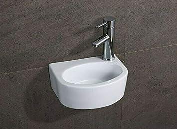 Wall Mounted Basins//Corner Basins//Counter Top Basins//Ceramic Basin TAP ON The Left Bathroom Contemporary Wall Hung Ceramic Wash Basins UK