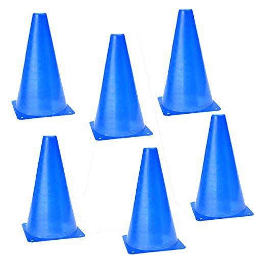 Pixnor-Confezione 6 sicurezza Agility-Cono per campo da calcio per allenamento sportivo per marcatura, colore: blu