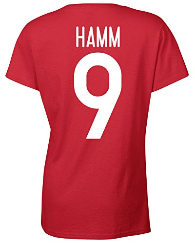 Jacted-Up-Tees-Mia-Hamm-USA-Soccer-Front-Back-JUNIOR-FIT-Ladies-T-Shirt-SHIPS-FROM-OHIO-USA