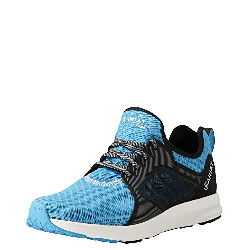 (Ariat Men's Fuse Athletic Shoe, Highlighter Blue Mesh, 8.5 D US)