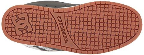 DC Shoes COURT GRAFFIK SHOE D0300529 - Zapatillas de cuero nobuck para hombre Grey/gum