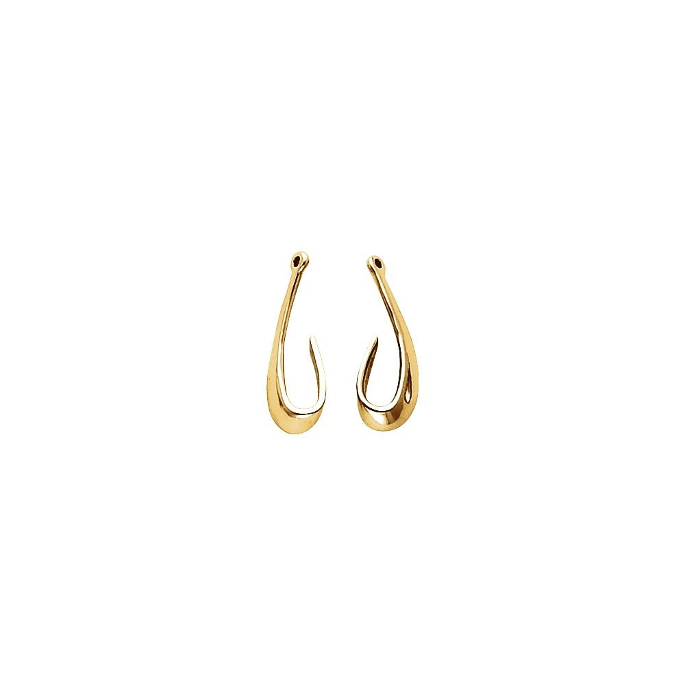 STU001- 14K Yellow Right Earring Jacket by STU001-