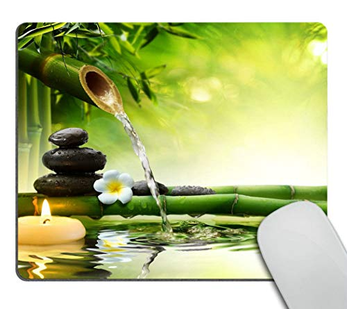 Wasach Nature Gaming Mouse Pad,Spa stones in garden with flow water Mouse Pad Personality Desings Gaming Mouse Pad Zen…