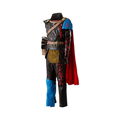 Thor 3 Ragnarok Thor Costume Outfit Whole Set,Large Brown