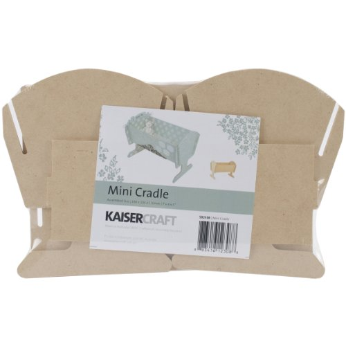 Kaisercraft SB2308 Beyond The Page MDF 7 by 5 by 4-Inch Cradle, Mini by Kaisercraft (KAISM)