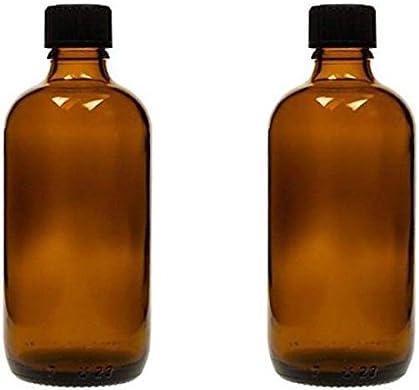 Viva-Haushaltswaren–2x tropffl Ash 100ml, Botellas medicinal marrón cristal Fabricado en Alemania, sin BPA, incluye etiquetas etiquetas
