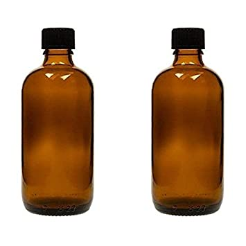 Viva-Haushaltswaren – 2 x tropffl Ash 100 ml, Botellas medicinal marrón cristal Fabricado