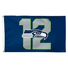 Wincraft NFL Seattle Seahawks 01826115 Deluxe Flag, 3-Feetx5-Feet