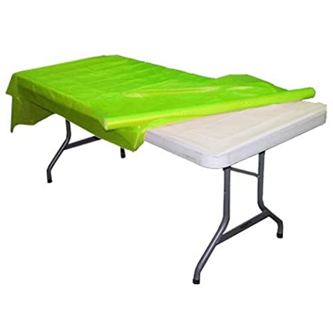 Lime Green plastic table roll (1)