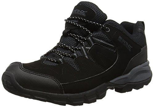Regatta Holcombe, Men's Low Rise Hiking Shoes, Black (Black/Granite), 7 UK (41 EU)