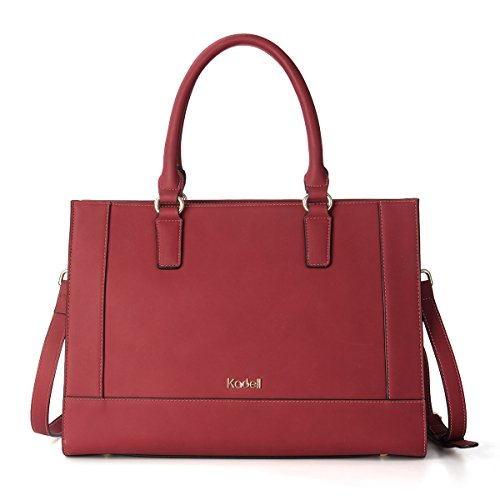 Messenger Bags Top PU Tote Fashion Satchel Red Leather Women Handbags Handle Large Shoulder Kadell Wine xq17p0n
