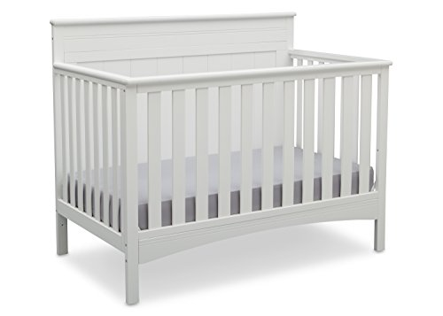 Delta Children Fancy 4-in-1 Convertible Baby Crib, Bianca White
