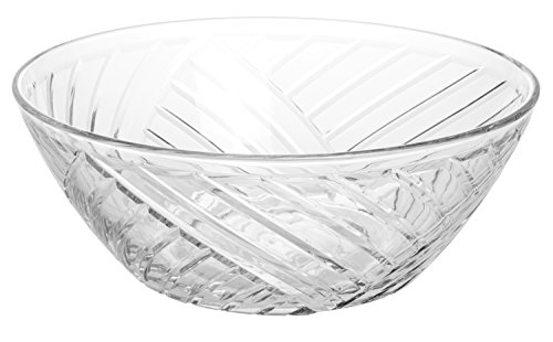 Large Multipurpose Crystal Clear Glass Serving Bowl, 9-inch, 71 oz.