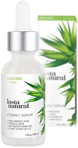 Circle Reducer - InstaNatural Vitamin C Serum with Hyaluronic Acid & Vit E - Natural & Organic Anti Wrinkle Reducer Formula for Face - Dark Circle, Fine Line & Sun Damage Corrector - Restore & Boost Collagen - 1 OZ
